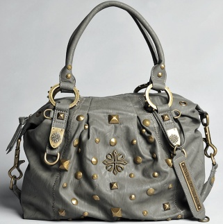 Affliction - Gray Studded Purse